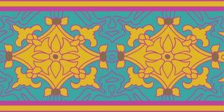 Teste padrão colorido ajustado com motivo floral da cor Foto de Stock