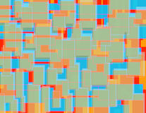 Teste padrão colorido aleatório 1 do bloco Imagem de Stock Royalty Free