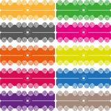 Teste padrão colorido bola da listra Fotografia de Stock