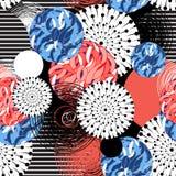 Teste padrão colorido brilhante fantástico abstrato Imagens de Stock