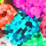 Teste padrão colorido brilhante Mosaico de formas geométricas Polígono coloridos abstraia o fundo Imagem de Stock Royalty Free