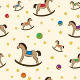 Teste padrão colorido com balançar-cavalos Imagens de Stock