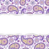 Teste padrão colorido com papel rasgado Imagem de Stock Royalty Free
