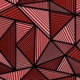 Teste padrão colorido com triângulo vermelho Imagens de Stock Royalty Free