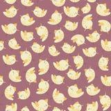 Teste padrão colorido da galinha do pássaro do vintage sem emenda bonito surpreendente Fotos de Stock