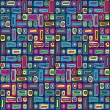 Teste padrão colorido da hippie ilustração royalty free