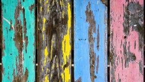 Teste padrão colorido da madeira do grunge Imagens de Stock Royalty Free