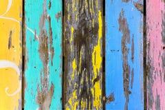 Teste padrão colorido da madeira do grunge Imagens de Stock