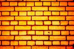 Teste padrão colorido da parede de tijolo, tijolos pintados como a textura urbana Imagem de Stock