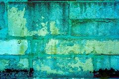 Teste padrão colorido da parede de tijolo, tijolos pintados como a textura urbana Foto de Stock