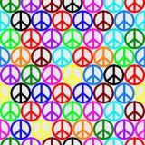 Teste padrão colorido da paz Foto de Stock