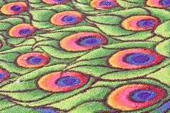 Teste padrão colorido de Koolam Imagens de Stock Royalty Free