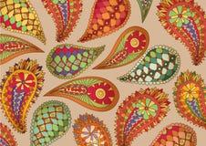 Teste padrão colorido de paisley Fotos de Stock Royalty Free