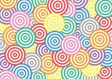 Teste padrão colorido do círculo ilustração royalty free