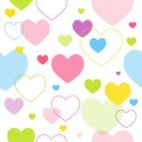 Teste padrão colorido do coração Imagens de Stock Royalty Free