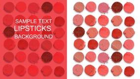 Teste padrão colorido do corte dos batons Imagem de Stock Royalty Free