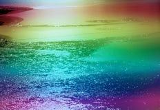 Teste padrão colorido do gelo Imagens de Stock