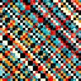 Teste padrão colorido do pixel na ilustração retro do vetor do estilo Fotografia de Stock Royalty Free