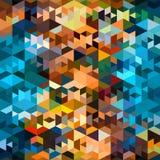 Teste padrão colorido do polígono Imagens de Stock