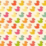 Teste padrão colorido do polígono dos patos do vintage Imagens de Stock Royalty Free
