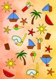 Teste padrão colorido do verão Fotografia de Stock Royalty Free