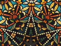 Teste padrão colorido do vidro manchado Imagens de Stock