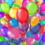 Teste padrão colorido dos balões Fotos de Stock Royalty Free