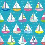 Teste padrão colorido dos barcos Fotografia de Stock