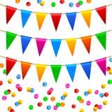 Teste padrão colorido dos confetes Fotos de Stock