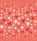 Teste padrão colorido dos corações Fotografia de Stock Royalty Free