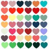 Teste padrão colorido dos corações foto de stock