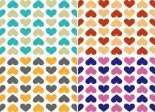 Teste padrão colorido dos corações Fotos de Stock