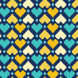 Teste padrão colorido dos corações Imagens de Stock Royalty Free