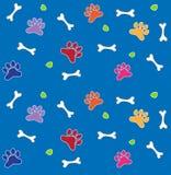 Teste padrão colorido dos ossos e das patas Imagens de Stock Royalty Free