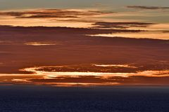Teste padrão colorido e nuvem dourada Fotografia de Stock Royalty Free