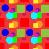 Teste padrão colorido em um fundo da cor de Borgonha Foto de Stock Royalty Free