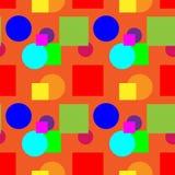 Teste padrão colorido em uma cor alaranjada do fundo Foto de Stock