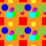Teste padrão colorido em uma cor alaranjada do fundo Fotografia de Stock