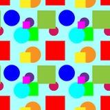 Teste padrão colorido em uma cor azul do fundo Fotografia de Stock Royalty Free