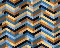 Teste padrão colorido isométrico Foto de Stock Royalty Free