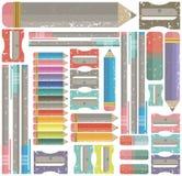 Teste padrão colorido para artigos de papelaria e álbuns de recortes Fotografia de Stock Royalty Free
