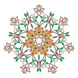 Teste padrão colorido sem emenda com mandala Elemento decorativo do vintage ilustração do vetor