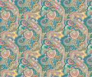 Teste padrão colorido sem emenda de paisley ilustração stock