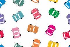 Teste padrão colorido sem emenda do carro Foto de Stock Royalty Free