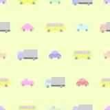 Teste padrão colorido sem emenda do carro para o bebê Fotos de Stock