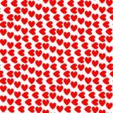 Teste padrão colorido sem emenda do coração do projeto ilustração royalty free