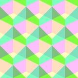 Teste padrão colorido sem emenda do cubo Fundo do papel de envolvimento do vetor Imagens de Stock Royalty Free