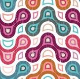 Teste padrão colorido sem emenda no estilo do grunge Imagem de Stock