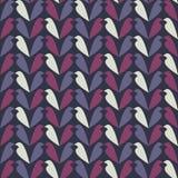 Teste padrão colorido sumário com silhueta do pássaro Fotografia de Stock Royalty Free