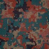 Teste padrão colorido sumário da camuflagem Fundo futurista da composição Conceito do labirinto rendição 3d ilustração stock